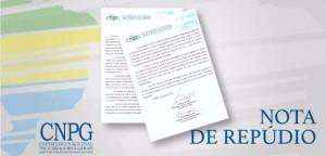 Nota de Repúdio - CNPG e GNCOC - slide