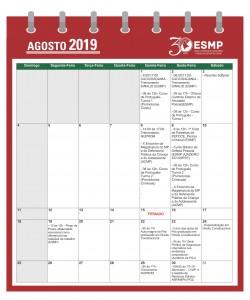 Calendário 2019.2 - AGOSTO