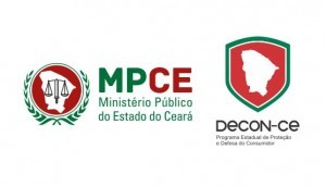 Logos do MPCE e do Decon